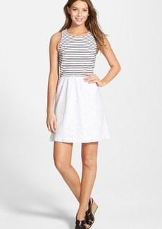 kensie Stripe & Lace Dress