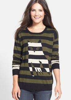 kensie Stripe Owl Sweater
