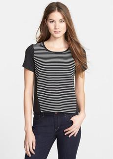 kensie Stripe Ribbed Top