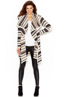 kensie Striped Knit Cardigan