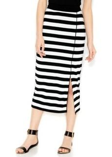 kensie Striped Midi Skirt