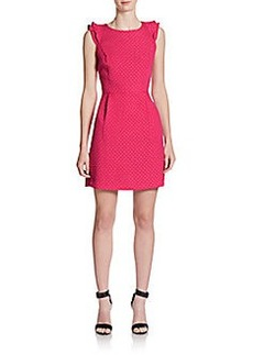 Kensie Textured-Dot Fit-&-Flare Dress