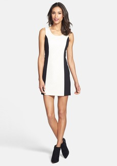 kensie Textured Front Ponte Knit Minidress (Online Only)