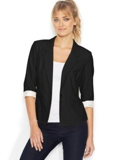 kensie Three-Quarter-Sleeve Blazer