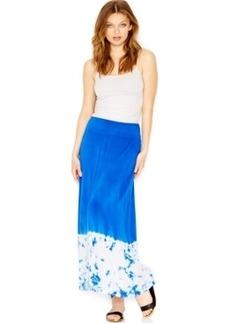 kensie Tie-Dye-Hem Maxi Skirt