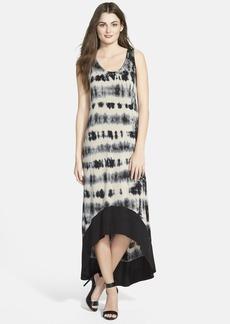 kensie Tie Dye High-Low Maxi Dress