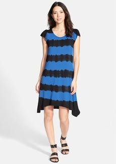 kensie Tie Dye Stripe A-Line Dress