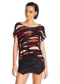 Kensie Women's Animal Stripe Top