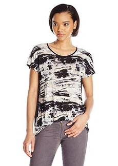 Kensie Women's Blurry Brush Strokes Top