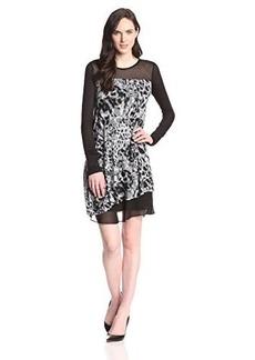 Kensie Women's Blurry Leaves Dress