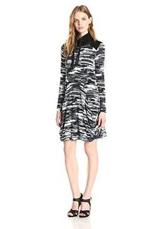 Kensie Women's Blurry Stripe Pocket Dress