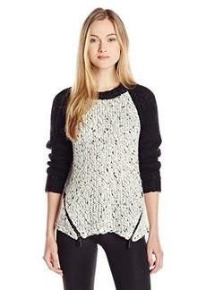 Kensie Women's Cozy Color-Block Raglan Sleeve Sweater