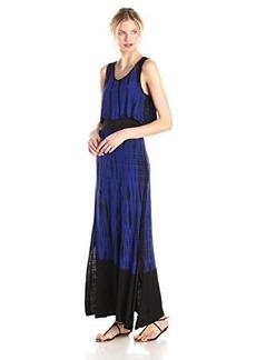 Kensie Women's Dip/Tie-Dye Vertebrae Maxi Dress