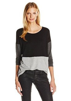 Kensie Women's Drapey French Terry Colorblock Sweatshirt