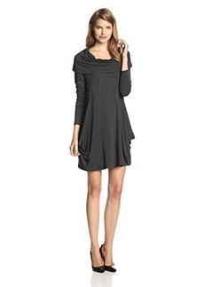 Kensie Women's Drapey French Terry Cowl Neck Dress