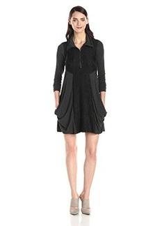 Kensie Women's Drapey French Terry Lace Dress