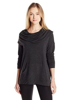 Kensie Women's Drapey French Terry Pullover
