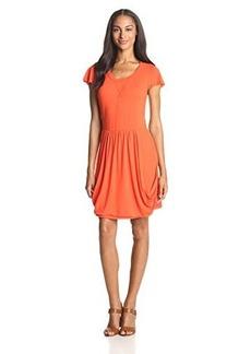 Kensie Women's Drapey French Terry Short-Sleeve Dress