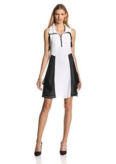 Kensie Women's Drapey French Terry Zipper Dress