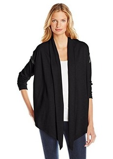 Kensie Women's Drapey Slub French Terry Jacket