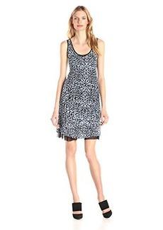 Kensie Women's Etchy Scratched Spots Tank Dress
