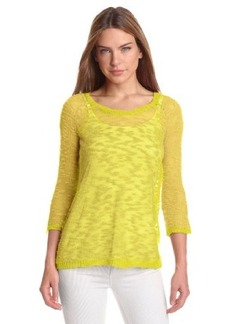 Kensie Women's Fine Gauge Slub Sweater
