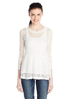 Kensie Women's Fine Gauge Slub Sweater
