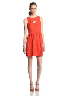 Kensie Women's Floral Eyelet Dress
