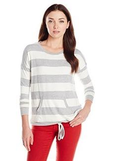 Kensie Women's French Terry Striped Sweatshirt