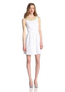 Kensie Women's Geo Eyelet Dress