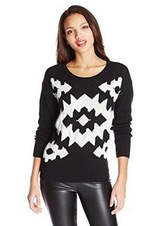 Kensie Women's Geometric-Print Sweater