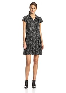 Kensie Women's Lace Print French Terry Dress