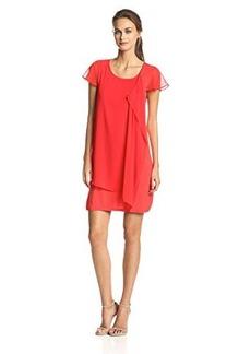 Kensie Women's Lace-Sleeve Shift Dress