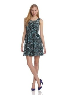 Kensie Women's Layered Feathers Dress