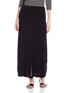 Kensie Women's Light Weight Viscose Spandex Maxi Skirt