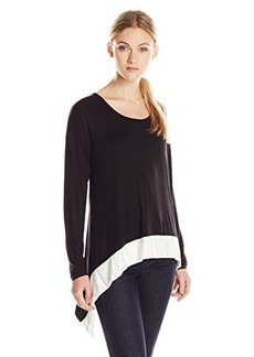 Kensie Women's Long-Sleeve Color-Block Top