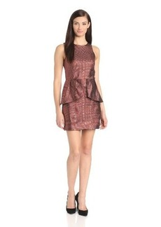 Kensie Women's Metallic Gingham Dress