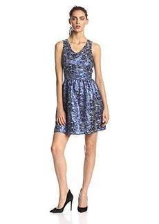 Kensie Women's Nubbly Lurex Jacquard Dress
