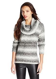 Kensie Women's Ombre Cowl Neck Sweater
