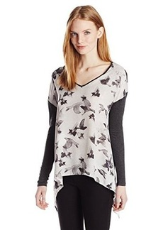 Kensie Women's Painted Birds Top