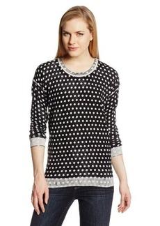 Kensie Women's Permeation Print Knit Sweater