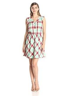Kensie Women's Plaid Rayon Dress