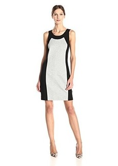 Kensie Women's Ponte Colorblock Dress