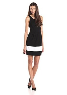 Kensie Women's Ponte Striped Dress