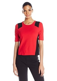 Kensie Women's Ponte Top