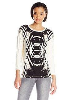 Kensie Women's Reflected Deco Sweatshirt