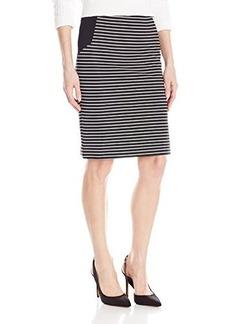 Kensie Women's Ribbed Stripe Skirt