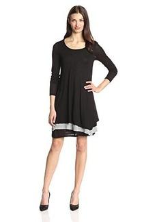 Kensie Women's Sheer Viscose Layered Dress