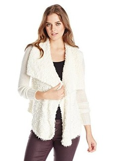 Kensie Women's Sherpa Cardigan Sweater
