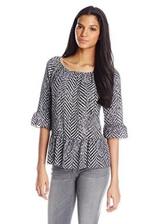 Kensie Women's Speckled Chevron Top